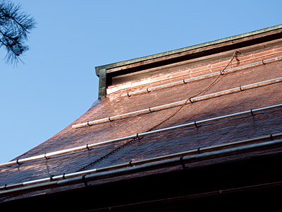 完成した大屋根