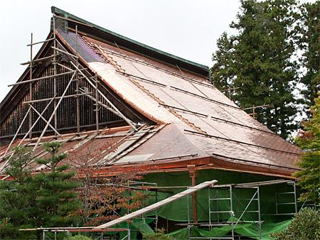 大屋根の銅板