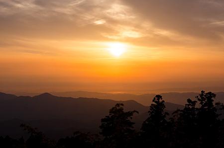 弁天岳からの夕日